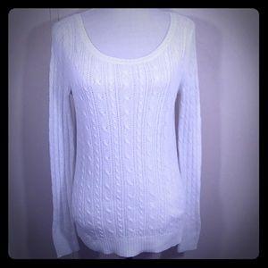 American Eagle Long Sleeve White Sweater